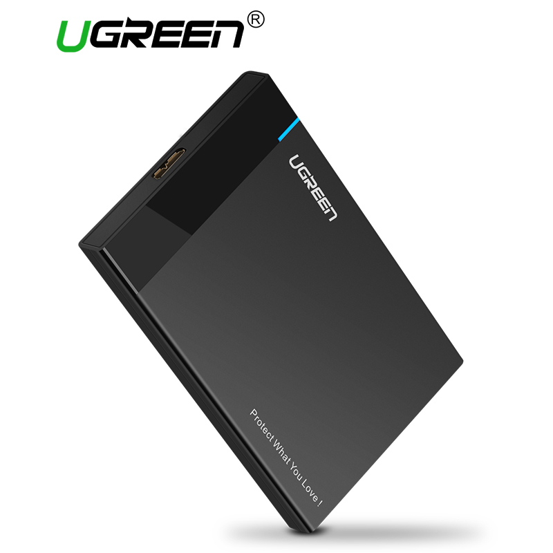 Ugreen HDD Enclosure SATA to USB 3.0 HDD Case Tool Free for 7/9.5mm 2.5 inch Sata SSD Up to 6TB Hard Disk Box External HDD Case wireless external hard disk box 2 5 3 5 inch usb 3 sd tf enclosure to sata case 6tb adapter hdd ssd with wifi network
