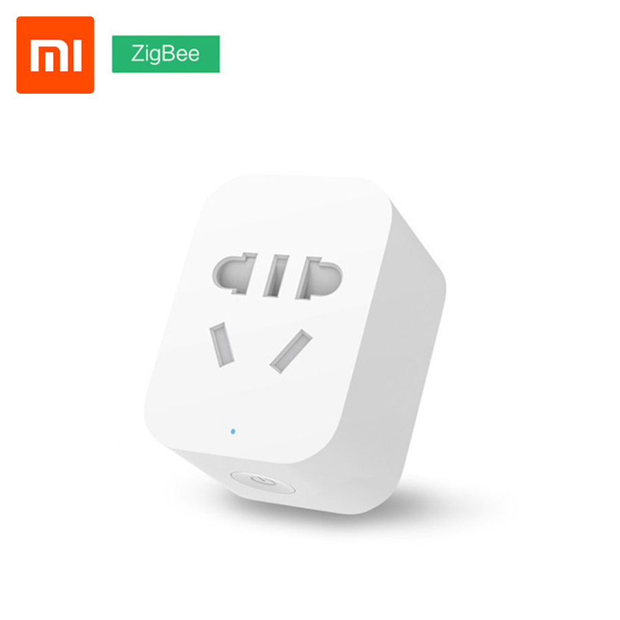 Original Xiaomi Mi Smart WiFi Socket Plug ZigBee Version APP Remote Control Timer Power Detection with Smart Home Mihome APP original xiaomi mi smart wifi socket app remote control timer power plug power detection zigbee version