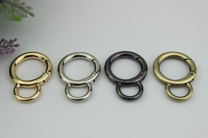 30 stks/partij Tas hardware accessoires 2 cm binnendiameter open lente spoel 6 punten 8 woord ronden open ring verbinden knop-in Tas onderdelen & Accessoires van Bagage & Tassen op  Groep 1