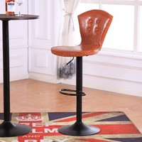 Orange Color Seat Office Computer Stool Furniture Retail Wholesale Living Room Bedroom Study Chair PU Leather