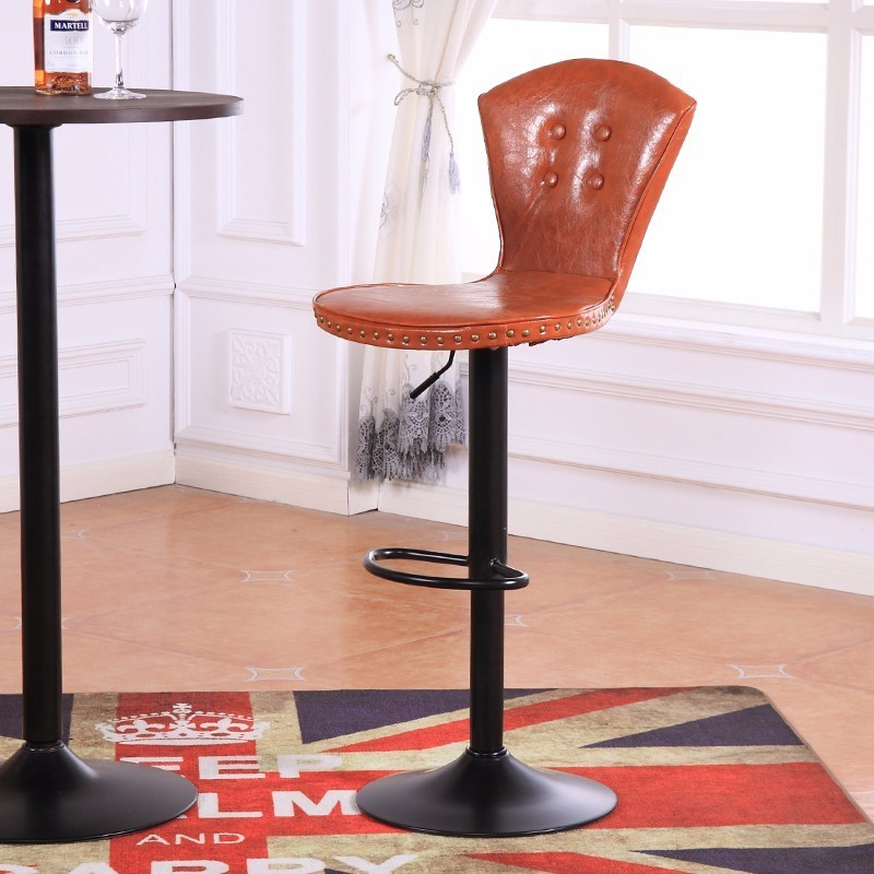 orange color seat office computer stool furniture retail wholesale living room bedroom study chair PU leather free shipping living room chair bar wine stool green color villa household chair stool retail wholesale free shipping