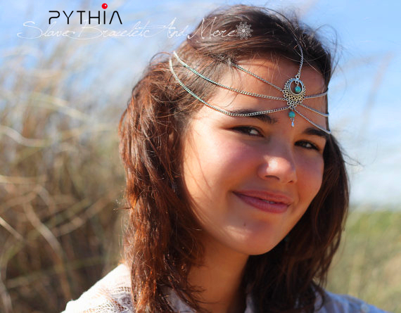 Women s Bohemian Headband Fashion Forehead Pendants Headbands Hair Chains  For Boho Headband Accessories 40662ecfe21