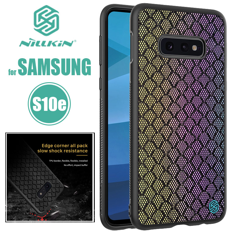 for <font><b>Samsung</b></font> Galaxy S10 Plus <font><b>S10E</b></font> Case Nillkin Glossy Silicone Soft Edge Luxury Fabric Phone Case for <font><b>Samsung</b></font> <font><b>S10E</b></font> S10 Plus <font><b>Capa</b></font> image