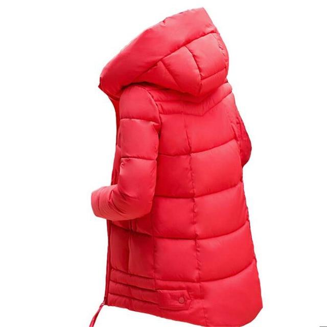 2016 Зимняя Куртка Новые Моды для Женщин пуховик Тонкий Большой размер С Капюшоном Студентов Куртки Женщины Толстый Теплый Хлопок Пиджаки G2848