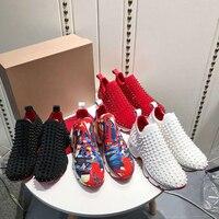 Повседневная обувь для женщин и мужчин, Вулканизированная обувь, модные удобные кроссовки на плоской подошве, спортивная обувь, красная тол
