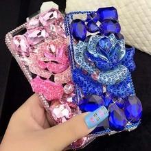 Bling Diamond Case For Samsung Galaxy A9 A8 A7 A5 2016 A510 A710 A310 Capa BLUELOVER Flower Crystal Rhinestone Cover Fundas capa