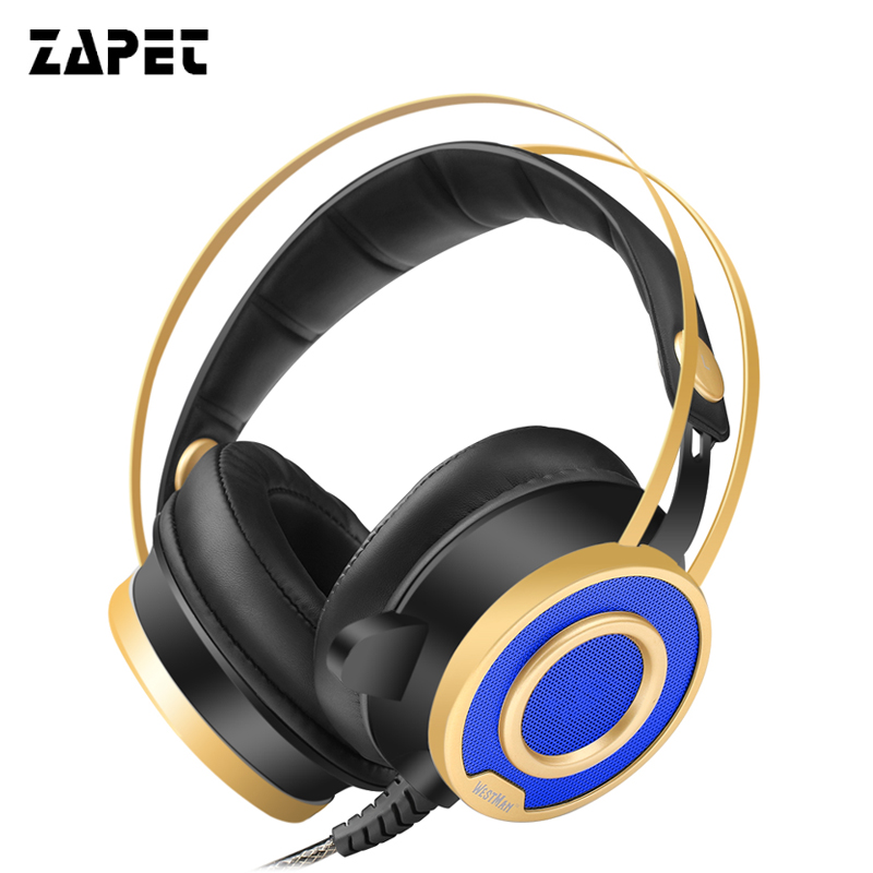 zapet Gaming Headset  Wired Game Earphone Headphones Deep Bass with Microphone LED Light Headphones for  computer pc 2017 hoco professional wired gaming headset bass stereo game earphone computer headphones with mic for phone computer pc ps4