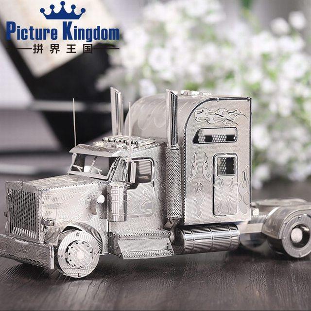 Picture Kingdom 3D Metal Puzzle Transformer Optimus Prime P008-A DIY 3D Laser Cut Jigsaw Toys