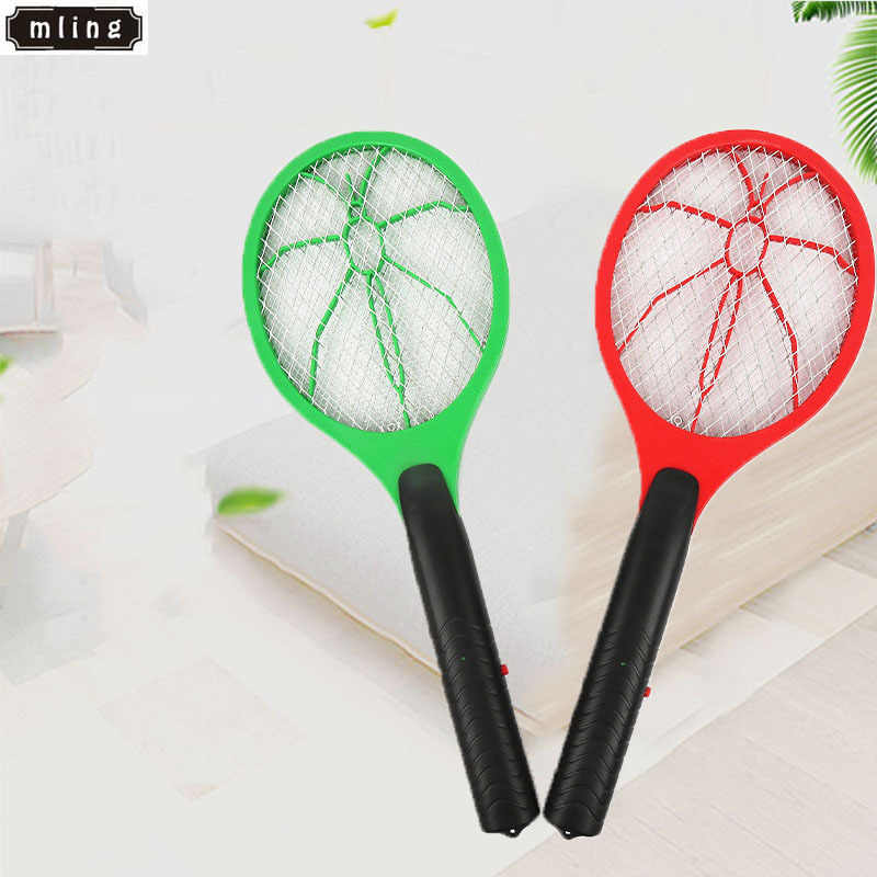 mling 1PC Hot Summer Wireless Electric Power Battery Fly Mosquito Insect Flyswatter Insect Killer Home Insect Family Decoration