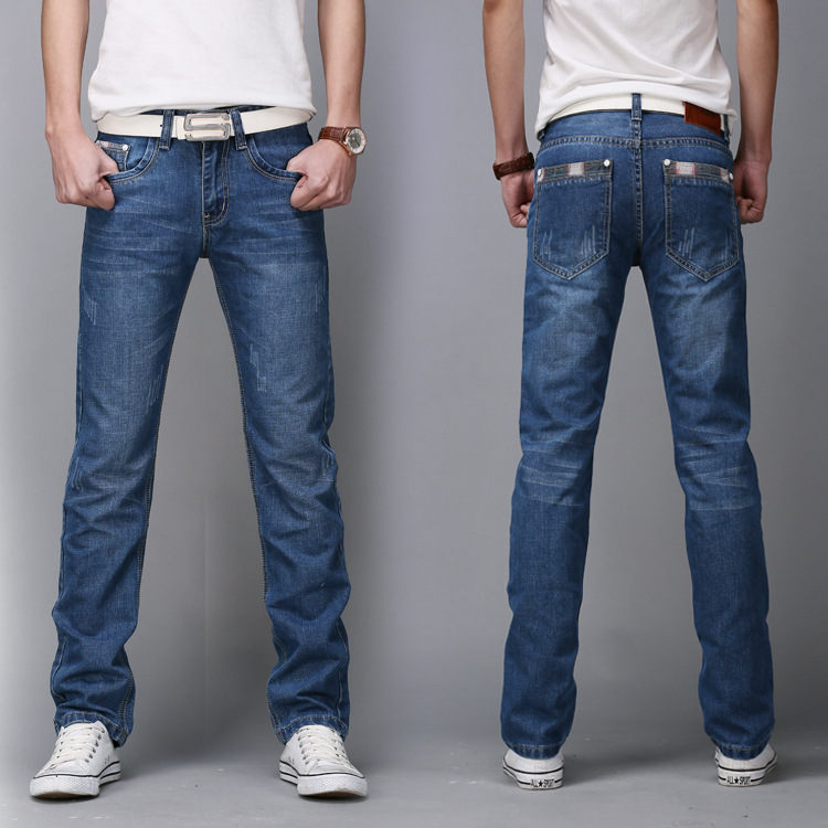 Denim Skinny Trousers Cotton Classic Straight Jeans  1