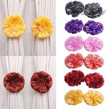 1pc /1 Pair Flower Window Curtain Tieback Holder Drape Panel Sheer Strap Home Decor Curtain Decorative Accessories(China)