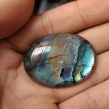 Натуральный Синий Яркий Лабрадорит шарик 30x40 мм Овальный ювелирный камень кобошон, драгоценный камень кулон ювелирные изделия из кабошонов кулон кольцо лицо 1 шт