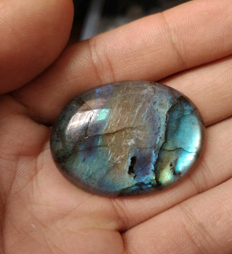 Natural Blue Flash Labradorite Bead 30x40mm Oval Gem stone Cabochon,Gem stone Pendant Cabochon Jewelry pendant ring face 1 piece