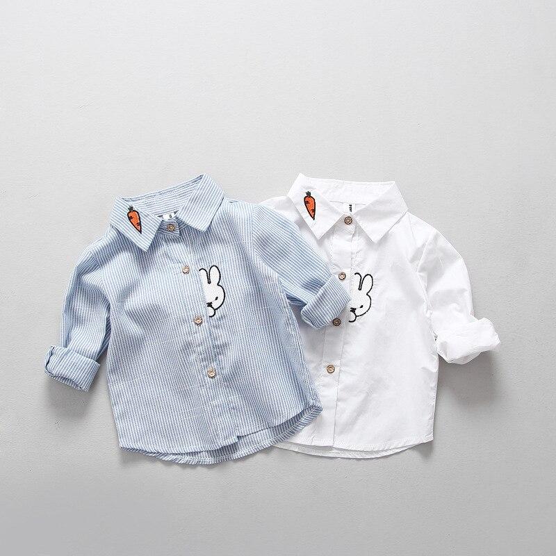 Autumn Baby Boys Girls Shirts Toddler Kids Clothing Cotton Long
