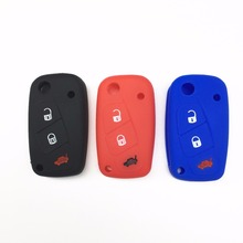 Car Key Case Silicone Cover For FIAT/Panda/Stilo/Punto/Doblo/Grande/Bravo 500 Ducato/Minibus 3 Buttons стоимость