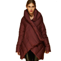 Manufacturers Outlet 2018 new 90% duck down warm parkers women's fashion cloak style design clothes feather coat w1138