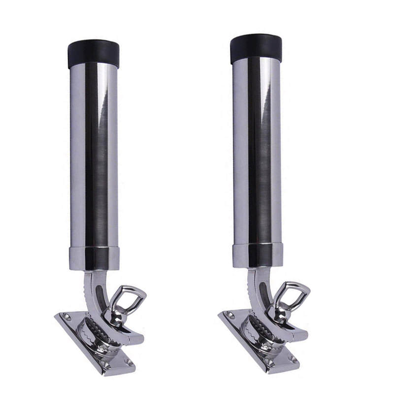 316 Stainless Steel Fishing Rod Holder for Boat Yacht Marine 360° Adjustable