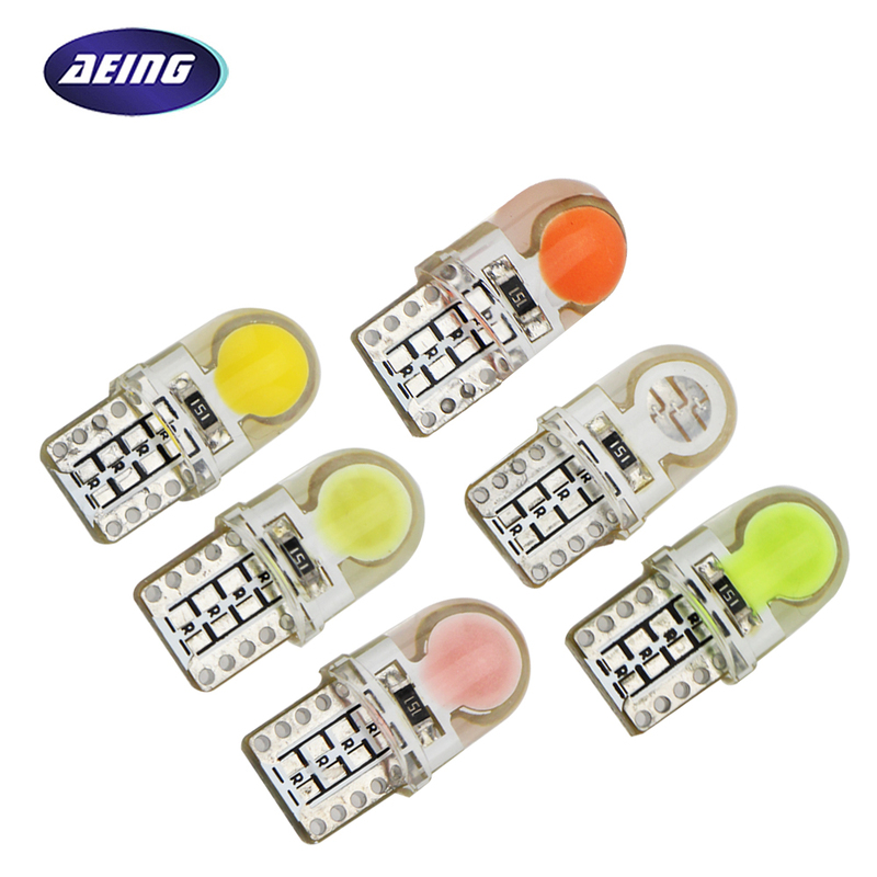 AEING 10pcs T10 W5W LED COB Chips silicone shell 194 168 Car Auto Parking Reading/license plate/Door Lights Car styling White