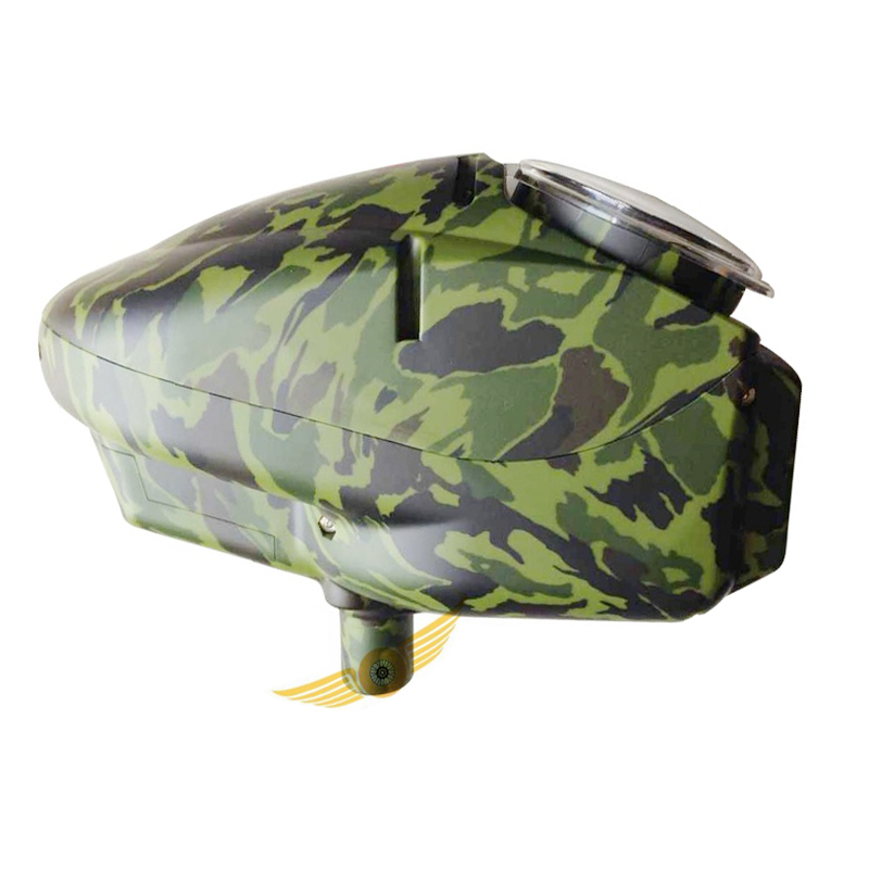 2015 New Paintball Loader Hopper Shells For Electronic Loader 180 Rounds Camo Green
