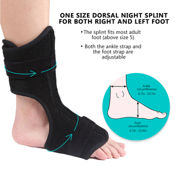 Plantar Fasciitis Dorsal Night & Day Splint Foot Orthosis Stabilizer Adjustable Drop Foot Orthotic Brace Support Pain Relief 3