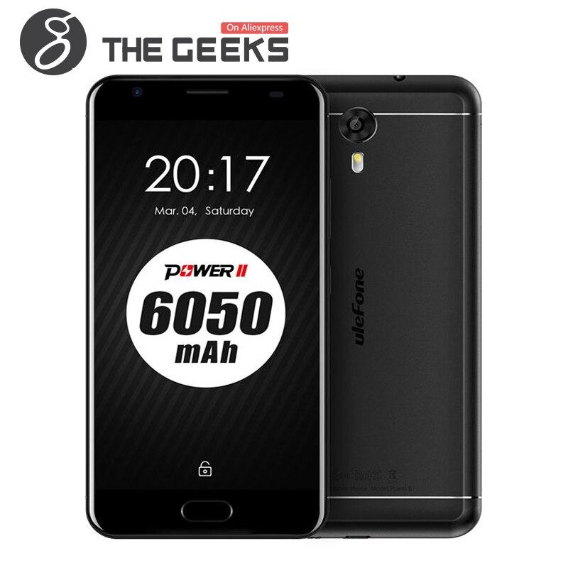 Цена за Оригинал ULEFONE МОЩНОСТЬ 2 4 ГБ RAM 64 ГБ ROM Android 7.0 6050 мАч MTK6750T 1.5 ГГц Octa Ядро 5.5 Дюймов FHD Экран 4 Г LTE Смартфон