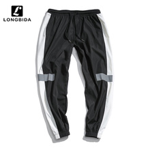 New Fashion Reflective Men Sweatpants Loose Men Joggers Pants Men Streetwear Pant Hip Hop Sportswear Track Harem Pants Plus Size