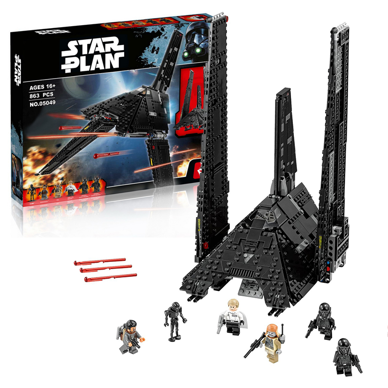 Lepin 05049 Krennic's Imperial Shuttle building bricks blocks Toys for children boys Game Plane Weapon Compatible with Decool lepin 02012 city deepwater exploration vessel 60095 building blocks policeman toys children compatible with lego gift kid sets