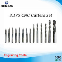 14 Pcs 3 175 Mm Drilling Bits Cutter Carving Knife For PVC Wood Acryl MDF ABS