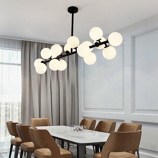 Us 8118 18 Offczarnyzłoty Magiczna Fasola Szklane Lampy Wiszące Retro W Stylu Vintage Loft Industrialna Lampa Wisząca Muti Szklane Wiszące