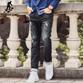 Pioneer Camp 2017 Brand Mens Jeans top quality Straight Ripped Jeans Denim Jeans Men Fashion Designer Pants grey Jeans 677183