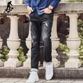 Pioneer camp 2017 brand jeans para hombre de calidad superior recta ripped jeans denim jeans hombres diseñador de moda de los pantalones vaqueros grises 677183