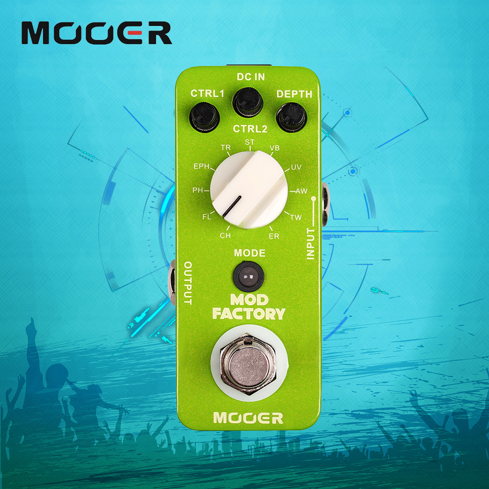 Mooer Mod Factory Collected 11 Kinds Of Classic Modulation Effects Guitar Pedal True Bypass mooer mod factory modulation guitar effects pedal true bypass with free connector and footswitch topper