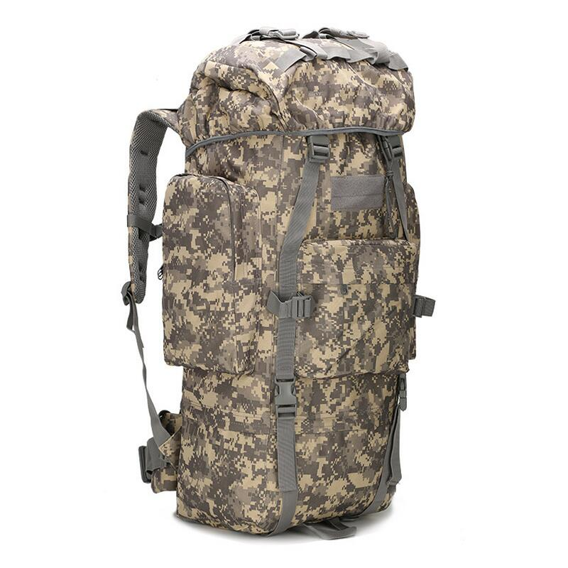 Large-capacity Tactical bag mountaineering bag 65L Outdoor Camping hiking camouflage backpack waterproof cover military backpack алмаз алмаз 103