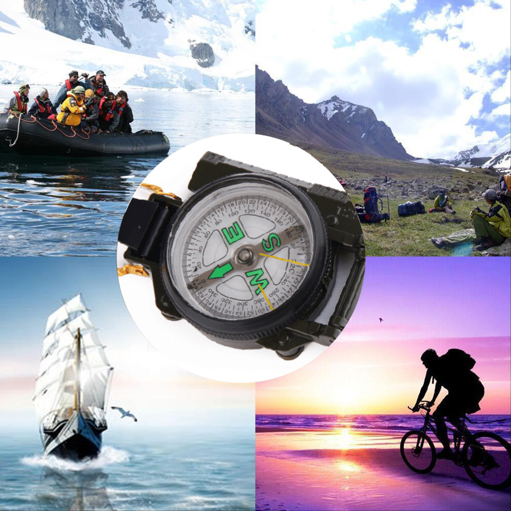 Outdoor Survival EDC Multi Tool Camping Hiking Metal Pocket Army Style Compass Military Camping Hiking Survival Marching New