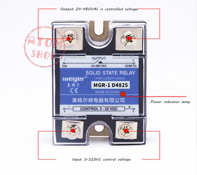 Mager  SSR 20A  DC-AC Single  Solid state relay  Quality Goods  MGR-1 D4820