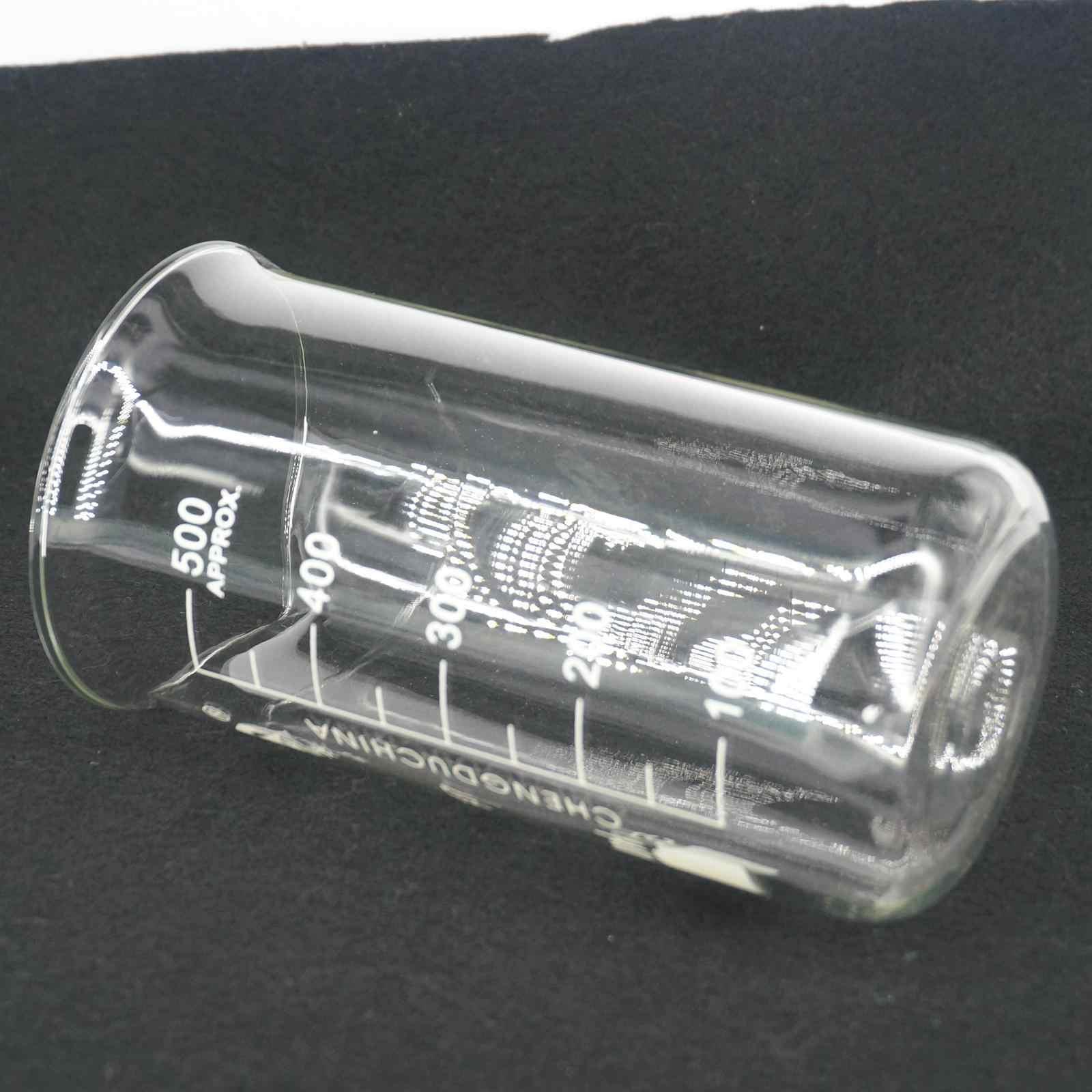 500 мл высокий шейкер химический лабораторный боросиликатный стеклянный прозрачный шейкер утолщенный с носиком