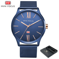 MINI FOCUS Top Luxury Brand Watches Men Fashion Simple Stylish S Mesh Strap Band Quartz Watch