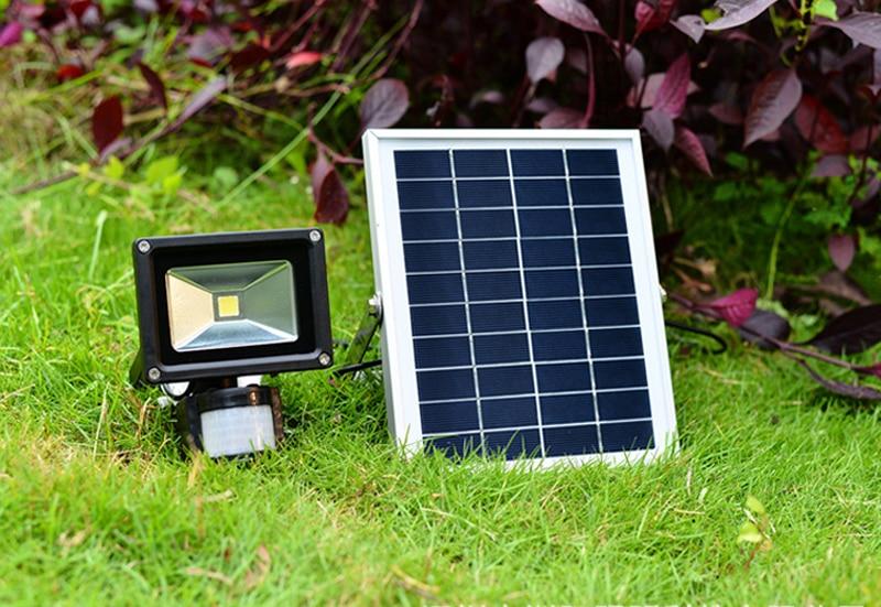 2pcs LED Solar Garden Light PIR Motion Sensor Waterproof IP65 10W 20W 30W 50W Wall Lamps Outdoor Emergency Lamp led floodlight ...