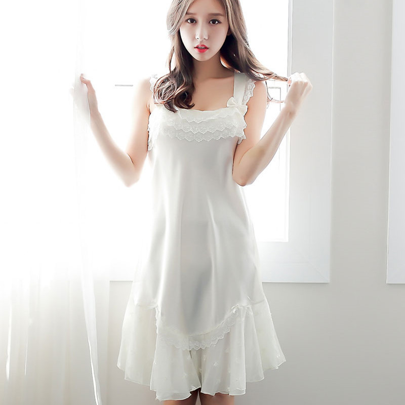 Yomrzl A418 New Arrival Summer Women S Nightgown White
