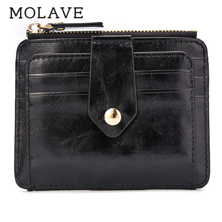 MOLAVE wallets wallet male Solid coin purse hasp zipper Men Blocking Short Leather Wallet Card Holder Coin Pocket wallets Feb13 new anime style spiderman men wallet pu leather card holder purse dollar price boys girls short wallets with zipper coin pocket