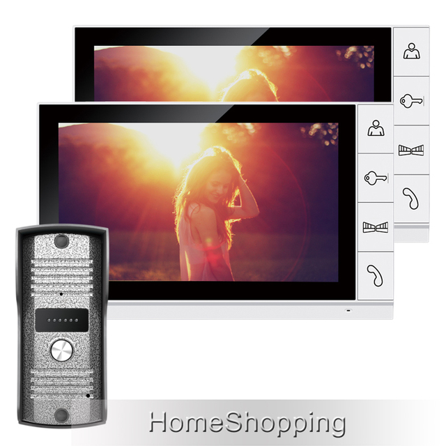 FREE SHIPPING Home Security 9 inch TFT LCD Video Intercom Door phone System 2 Screens + 1 Night Vision Outdoor Camera IN STOCK