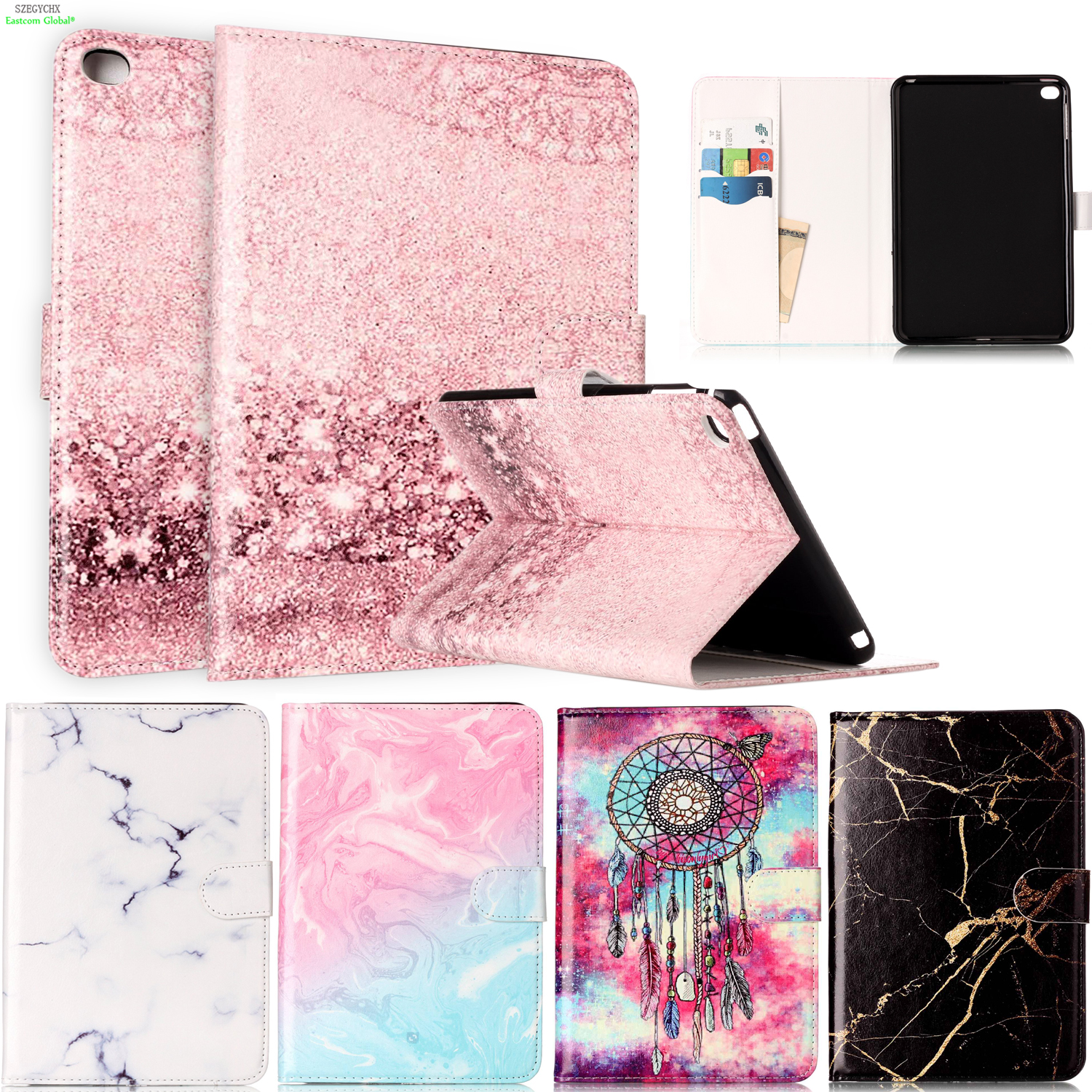 Marble Pattern PU Leather Flip Case For iPad mini 4 Case Smart Cover For iPad 7.9 inch Tablet Stand Original Ultra Slim Shell