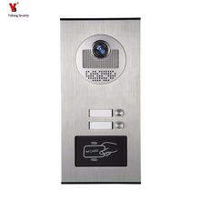 Yobang Security Metal Aluminum Outdoor RFID Access Door Camera For 2 Units Apartment Video Intercom Doorbell Door Phone System