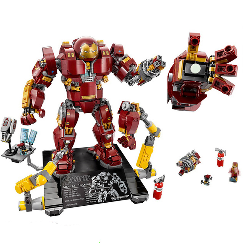 1527Pcs Super Hero Compatible with Legoings 76105 Iron Man Anti Hulk Mech Toy Building Bricks Blocks Toys For Children