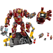 1527Pcs Super Hero Compatible with Legoings 76105 Iron Man Anti Hulk Mech Toy Building Bricks Blocks Toys For Children цена