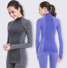 Women Long sleeve Yoga running fitness pants + T-shirt set Sports tights set training clothing WA25