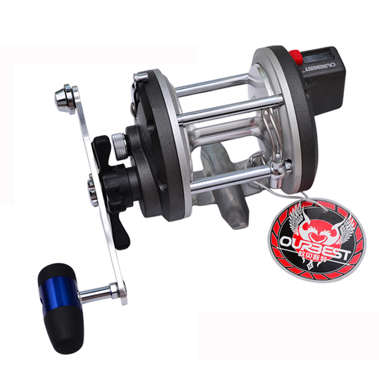 4BB 4.2:1 PUNCH820 Trolling Reel With Line Counter Big Game Fishing Reel Ocean Boat Reels Jigging Boat Electric Counter Wheel 1 65m 1 8m high carbon jigging rod 150 250g boat trolling fishing rod big game rods full metal reel seat sic guides eva handle