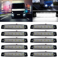 Castaleca Multi Color 10Pcs 12V 24V 6LED Side Lights Mark The Warning Lamps Fits For Most