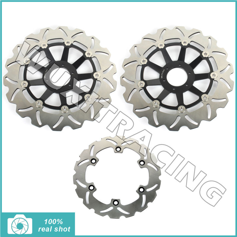 310mm+256mm New Motorcycle Full Set Front Rear Brake Disc Rotor fors Honda CBR 1100 XX CBR1100 XX V,W Blackbird SC35 1997 1998