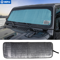 MOPAI Car Front Anti UV Rays Window Sun Visor Windshield Sunshade Cover for Jeep Wrangler JL 2018 Up Car Accessories Styling